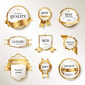 Elegant pearl white labels set