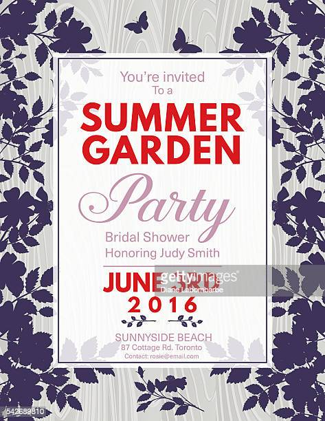 Elegant Roses Bridal Shower Garden Party Invitation