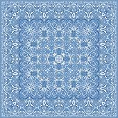 Elegant square light blue abstract pattern.
