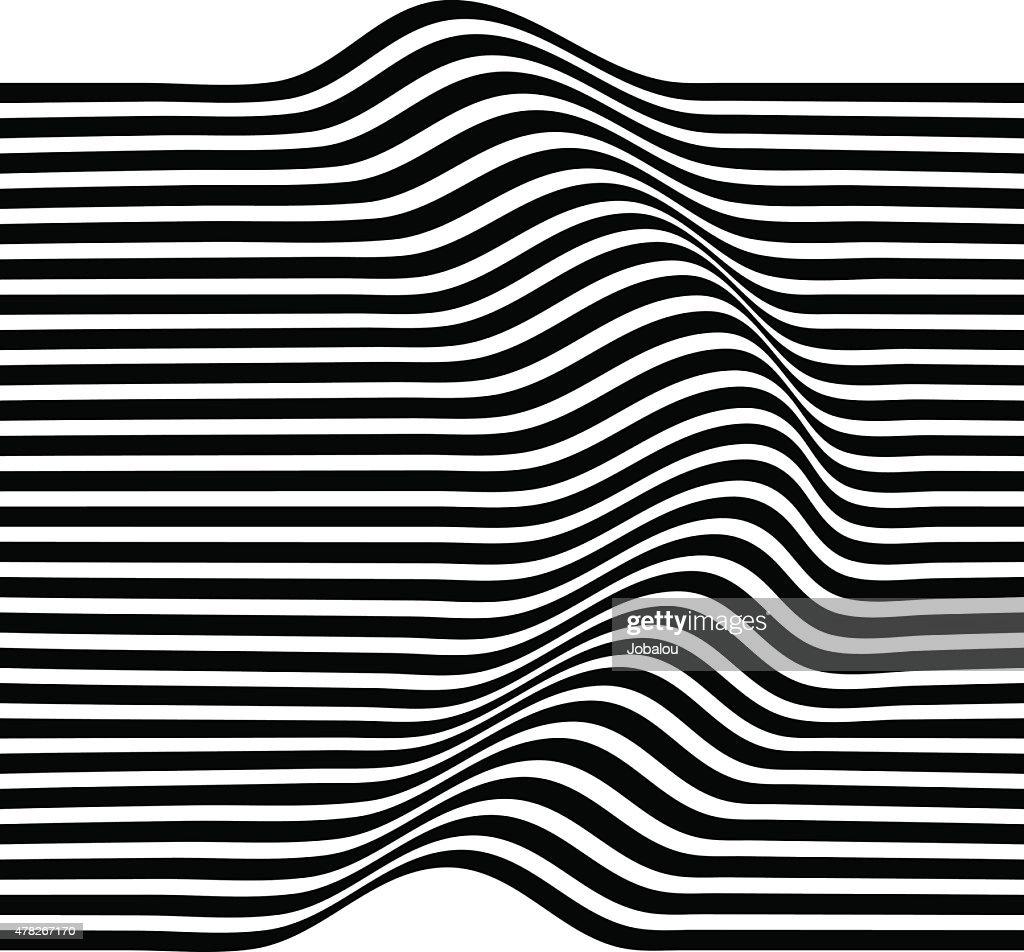 Elegant stripe waves