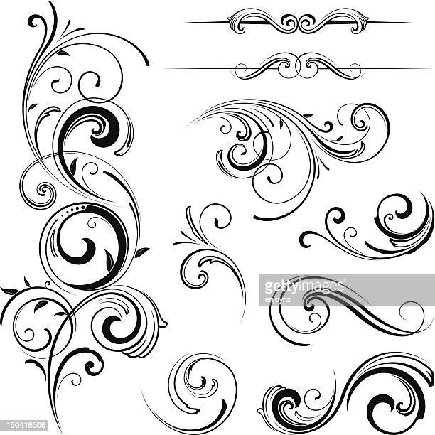 Elegant swirling flourishes