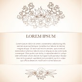 Elegant template with ornamental floral composition.