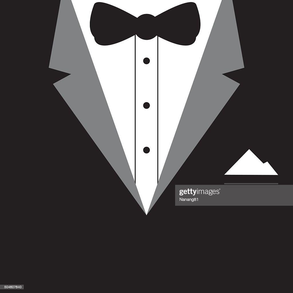 Elegant tuxedo design vector