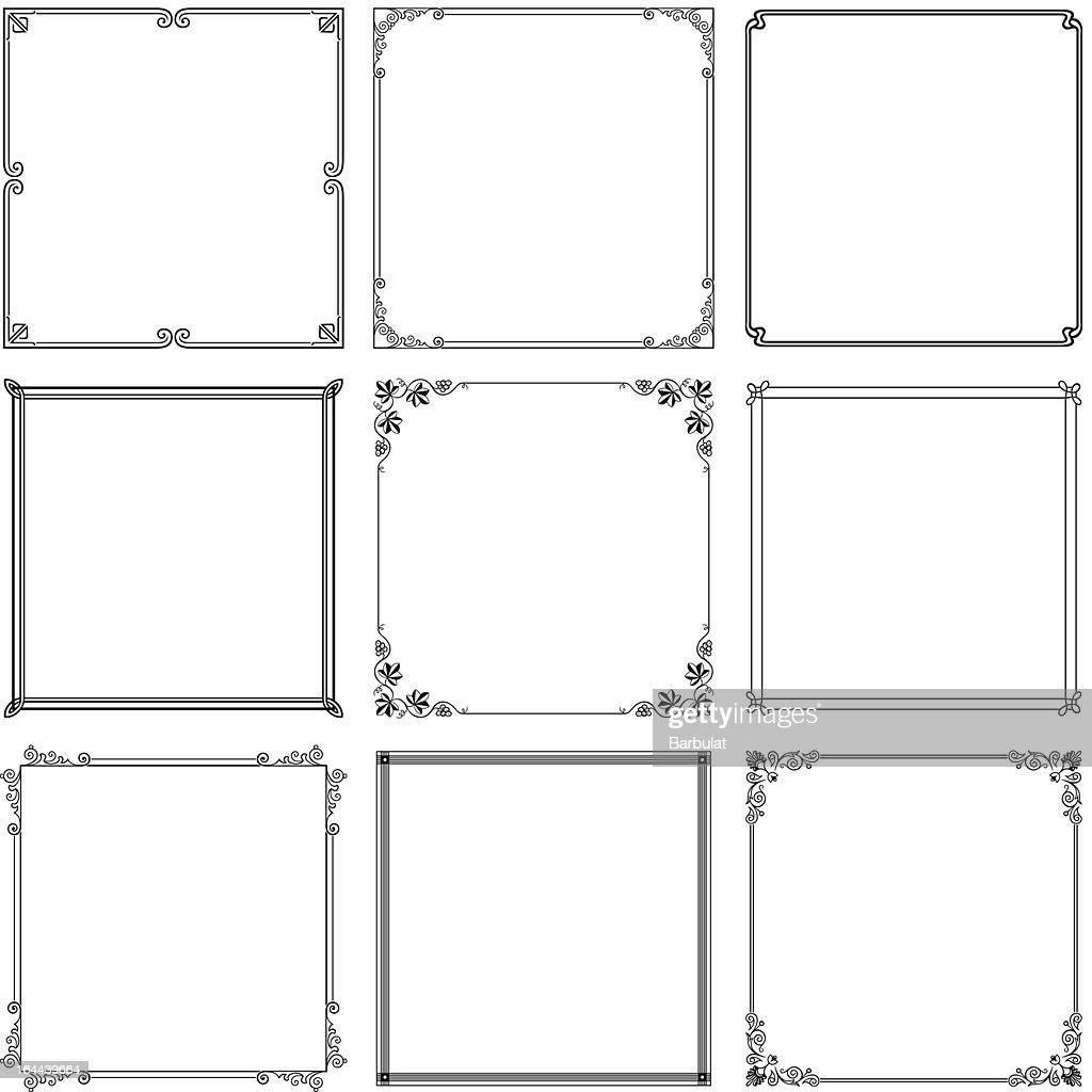 Elegant vector frame
