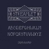 Elegant vintage Latin alphabet