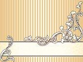 Elegant vintage sepia banner, horizontal