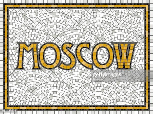 ilustrações, clipart, desenhos animados e ícones de telha vintage elegante design do mosaico - moscou
