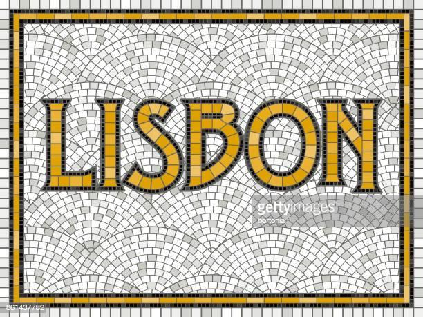 elegant vintage tile mosaic design - portugal stock illustrations