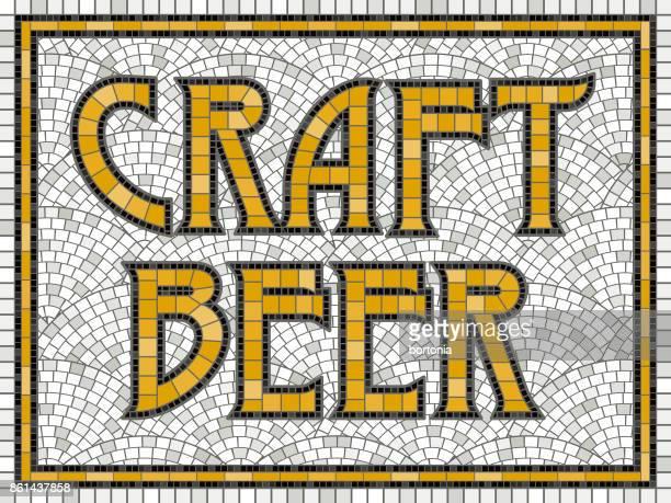 elegant vintage tile mosaic design - artisanal food and drink stock illustrations, clip art, cartoons, & icons