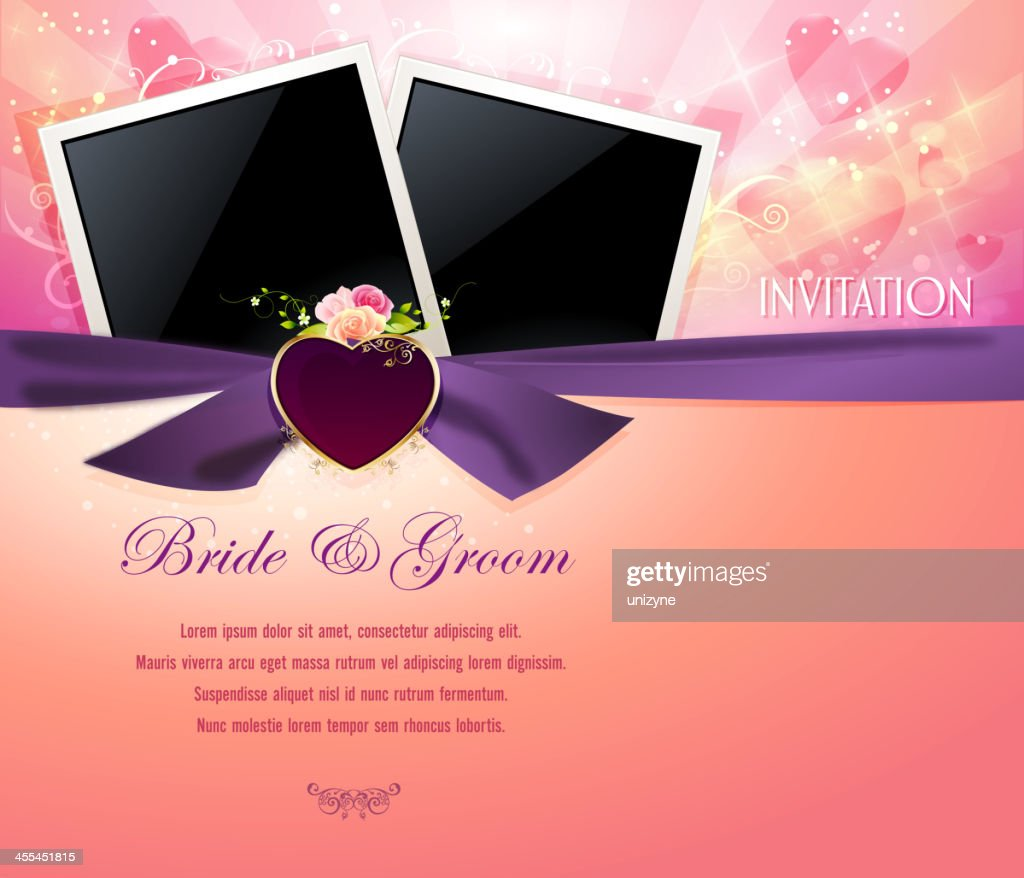 Elegant Wedding Background With Photo Frames High Res Vector Graphic Getty Images