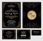 Elegant Wedding Invitation Design Template.