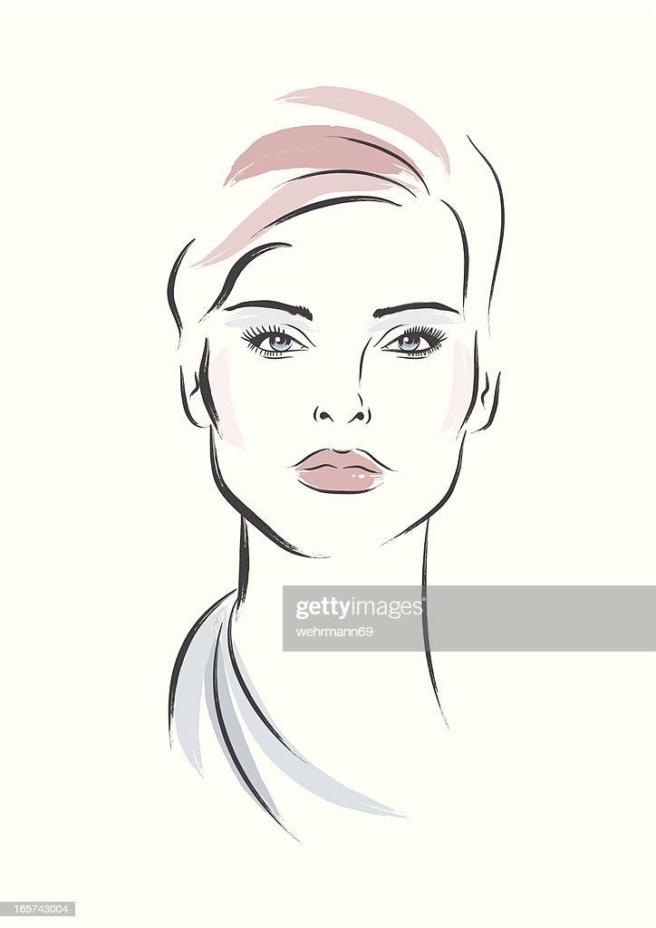 Elegante Frau : Stock-Illustration