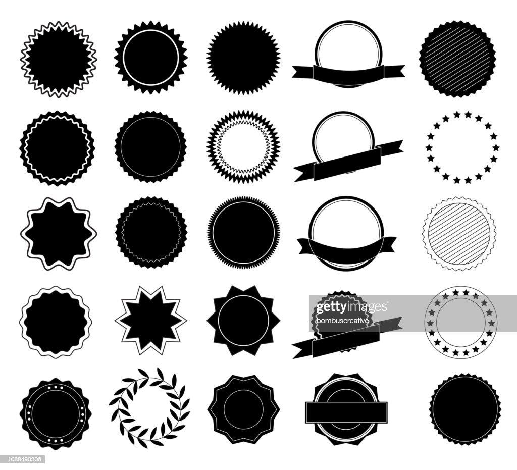 要素のデザイン コレクションのラベルおよびロゴ。デザイン要素です。ベクトル図 : ストックイラストレーション