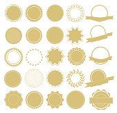 Element design collection for label and logo. Design elements. Vector Illustration