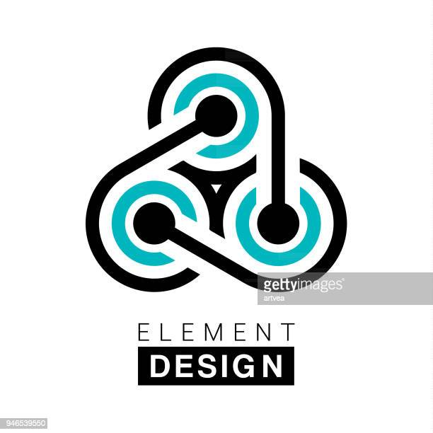 element design - connection stock illustrations