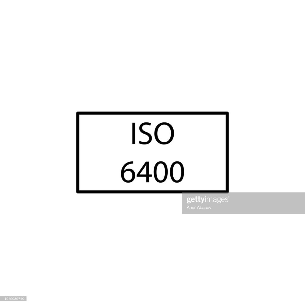 ISO 6400. Element of photography icon for mobile concept and web apps. Thin line ISO 6400 can be used for web and mobile