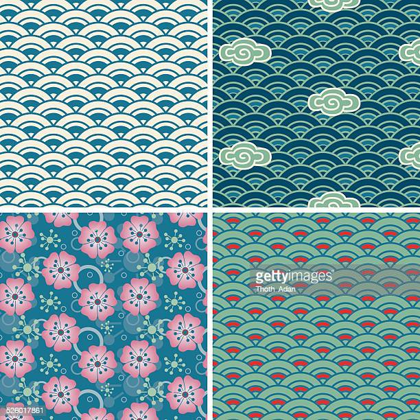 Element water (Seamless pattern set)