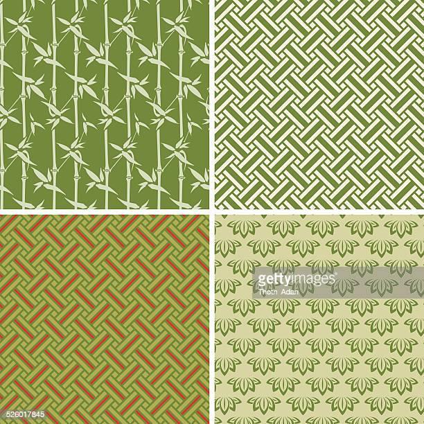 エレメント・ウッド(シームレスパターンセット) - 竹点のイラスト素材/クリップアート素材/マンガ素材/アイコン素材