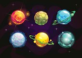 Elemental planets, fantasy space set