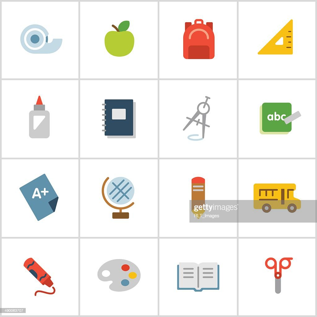 Elementary School Icons — Poly Series