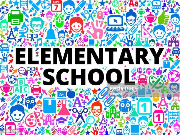 elementary school School and Education Vector Icon Background