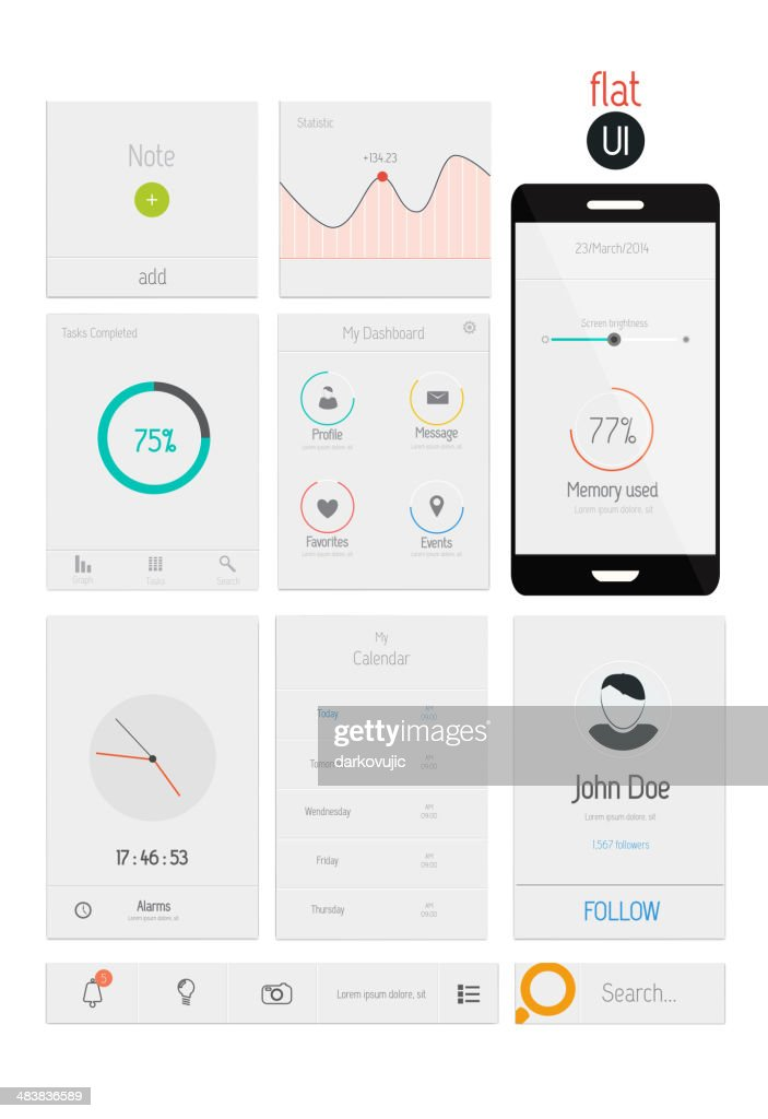 UI elements for web and mobile