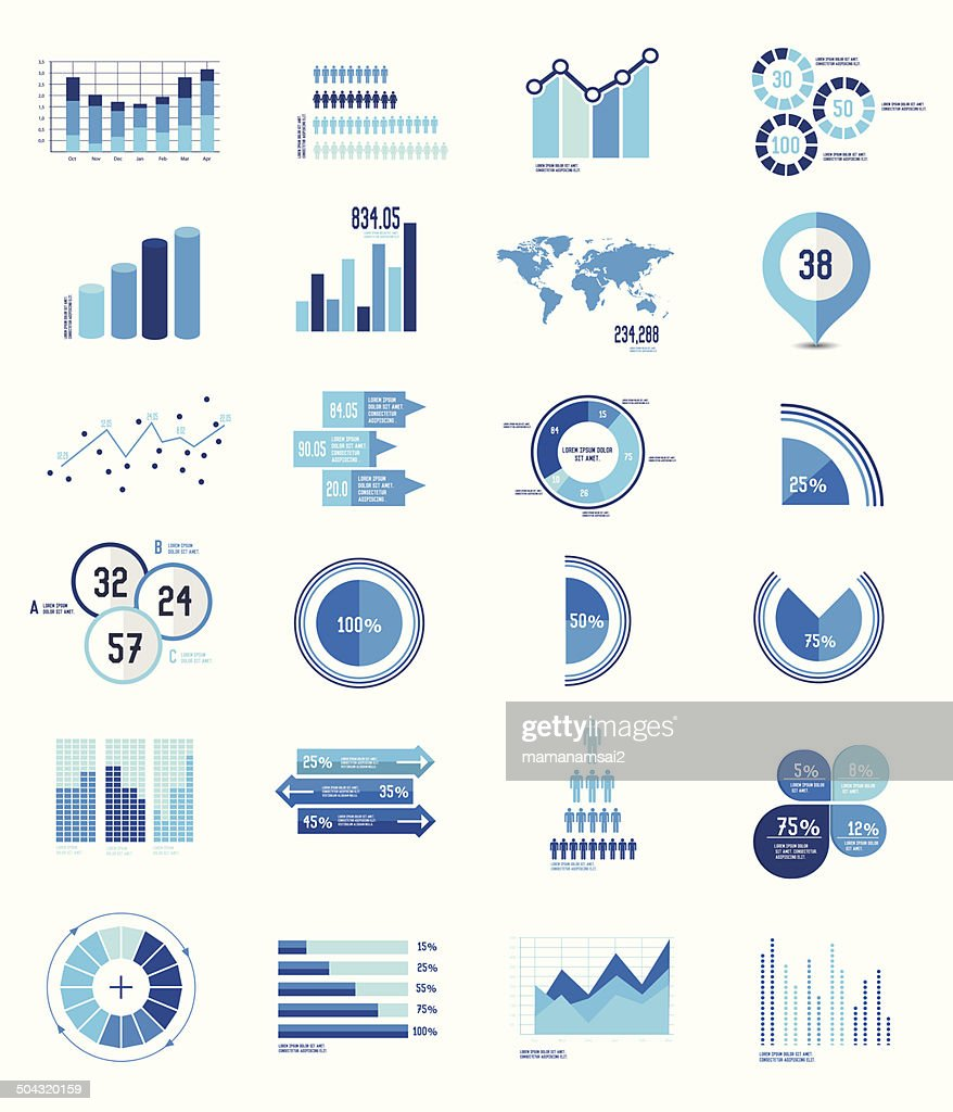 Elements Infographics Data analysis on white background,vector