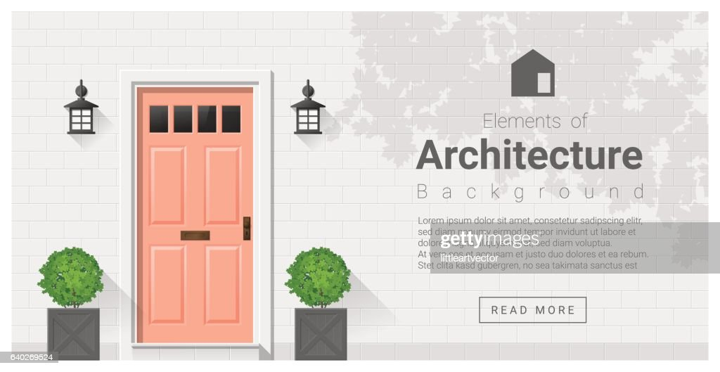 Elements of architecture , front door background 19