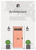Elements of architecture , front door background 20