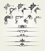 Elements of design, retro, vektor image