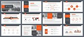 Elements of infographics for presentations templates