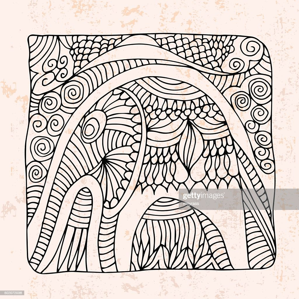 elephant and abstract flower
