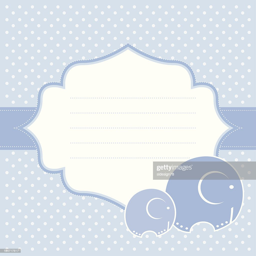 Elephant baby greeting card