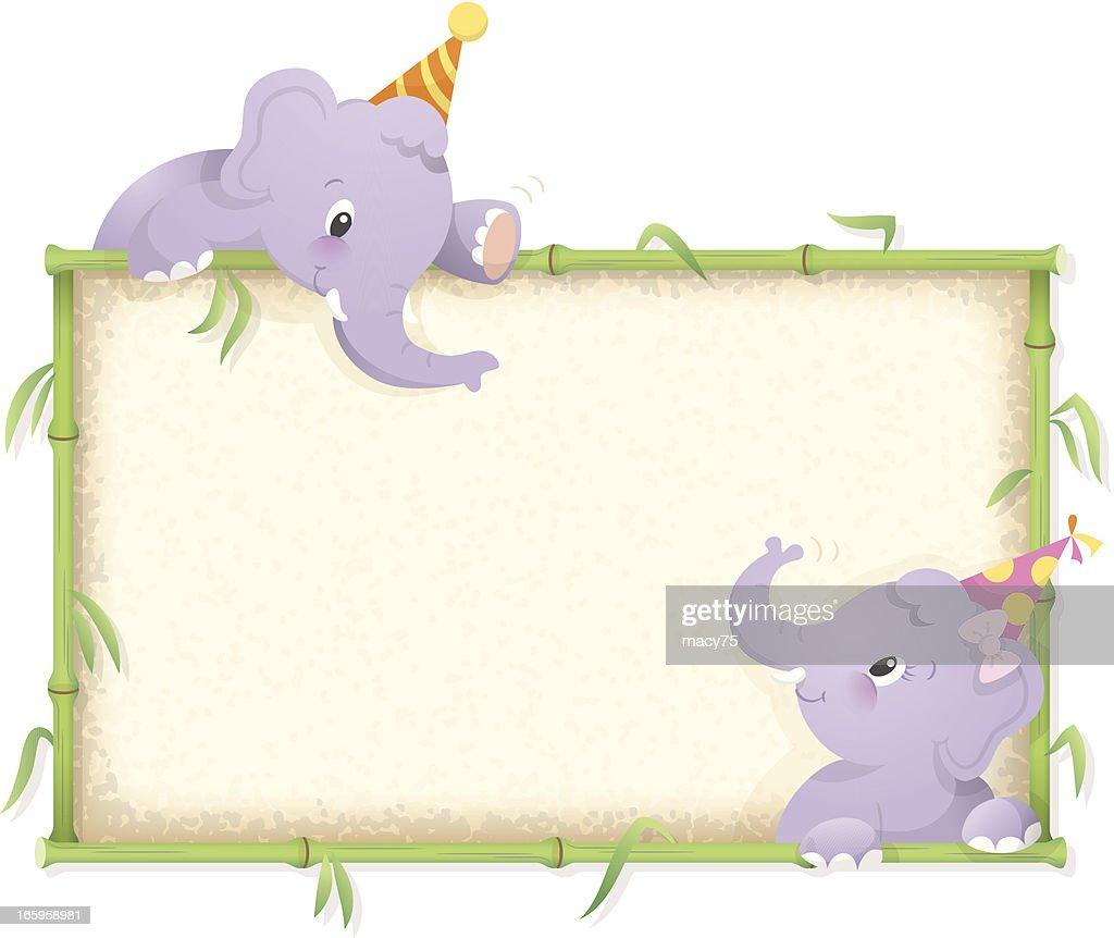 Elephant birthday frame