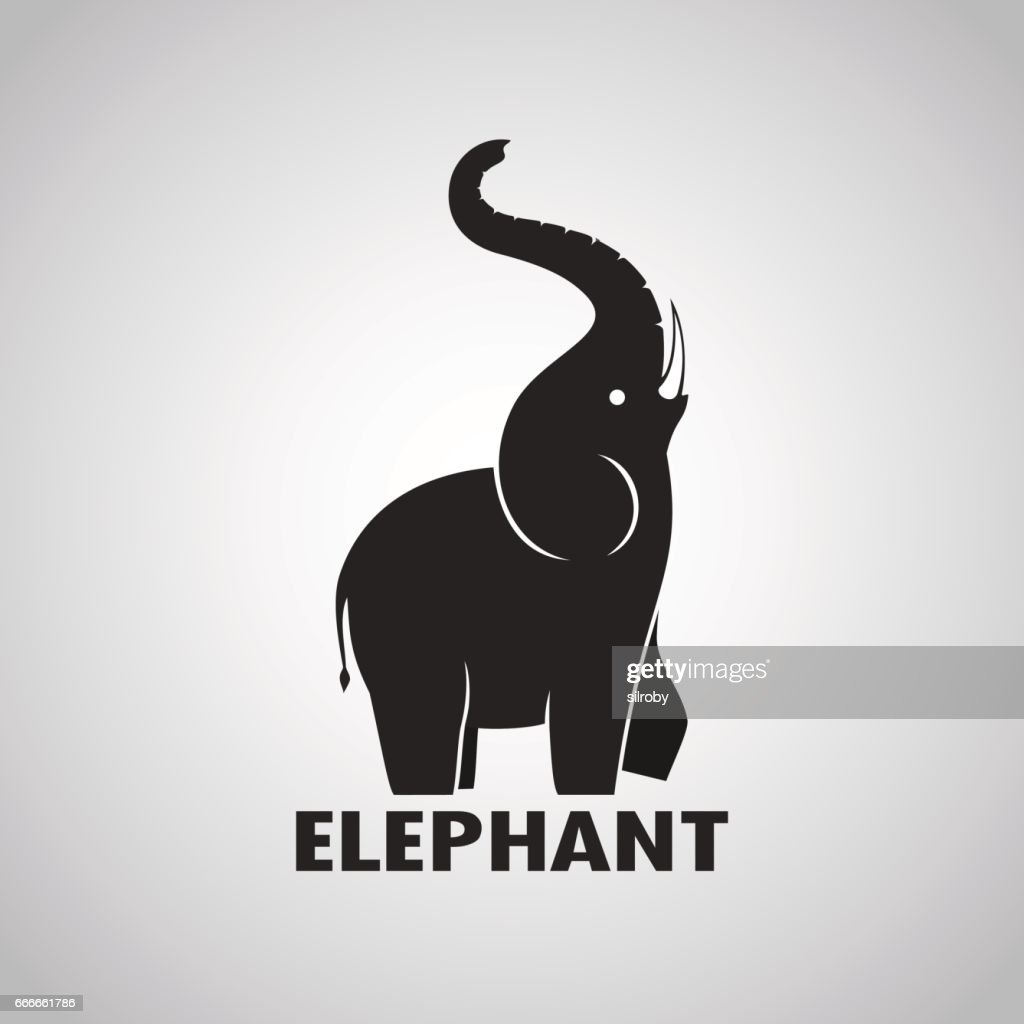 Elephant design on a white background