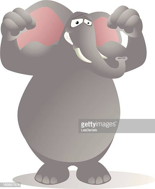 Elephant Flexing his Muscles