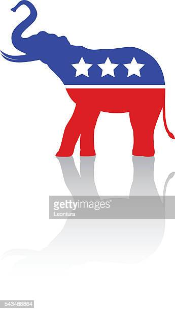 elephant for republicans - us republican party stock illustrations, clip art, cartoons, & icons