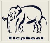 Elephant , icon ,tattoo .