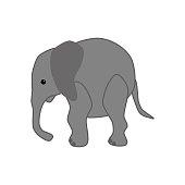 Elephant illustration vector