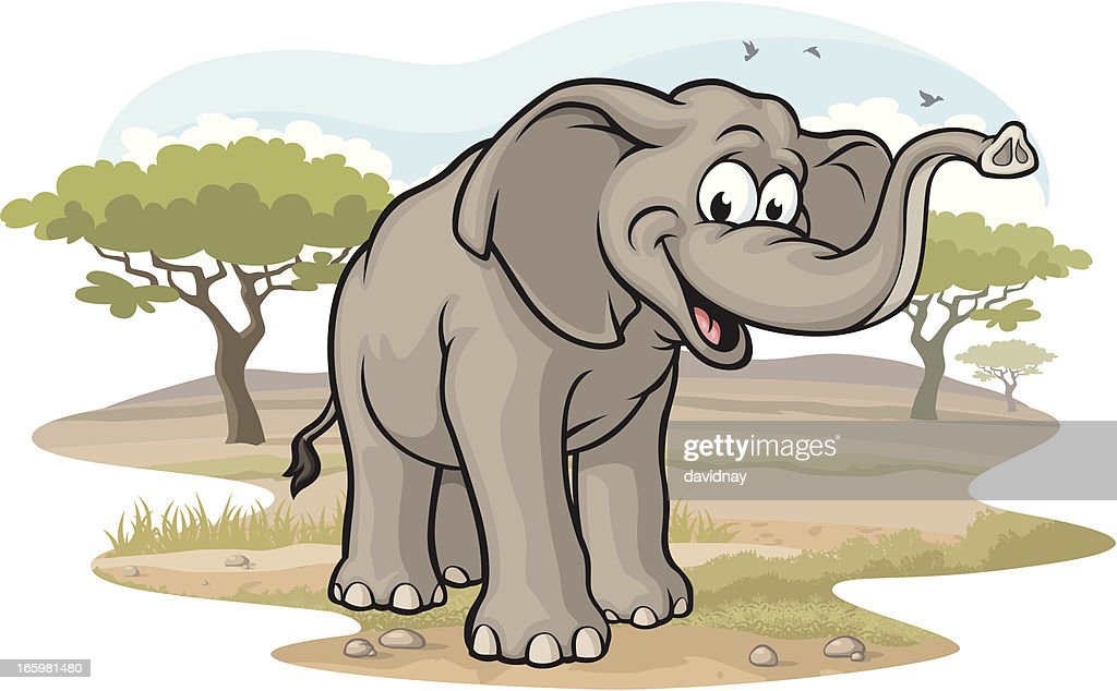 Elephant on the Savannah