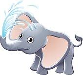 Elephant Playing Animal Cartoon Character