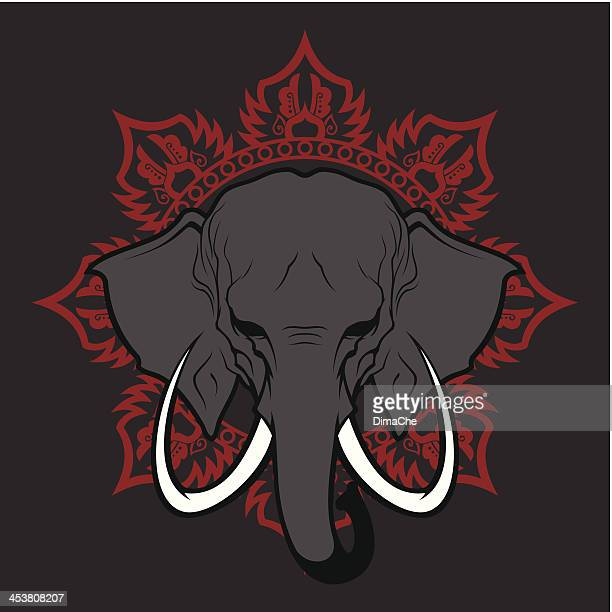 Elephant stylized head