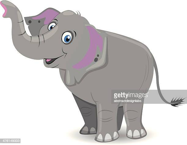 elephant - cartoon characters with big noses stock illustrations, clip art, cartoons, & icons