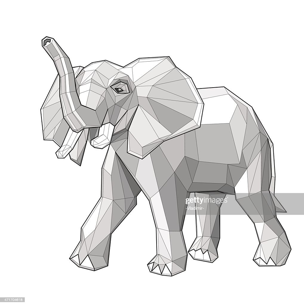 Elephant - vector illustration