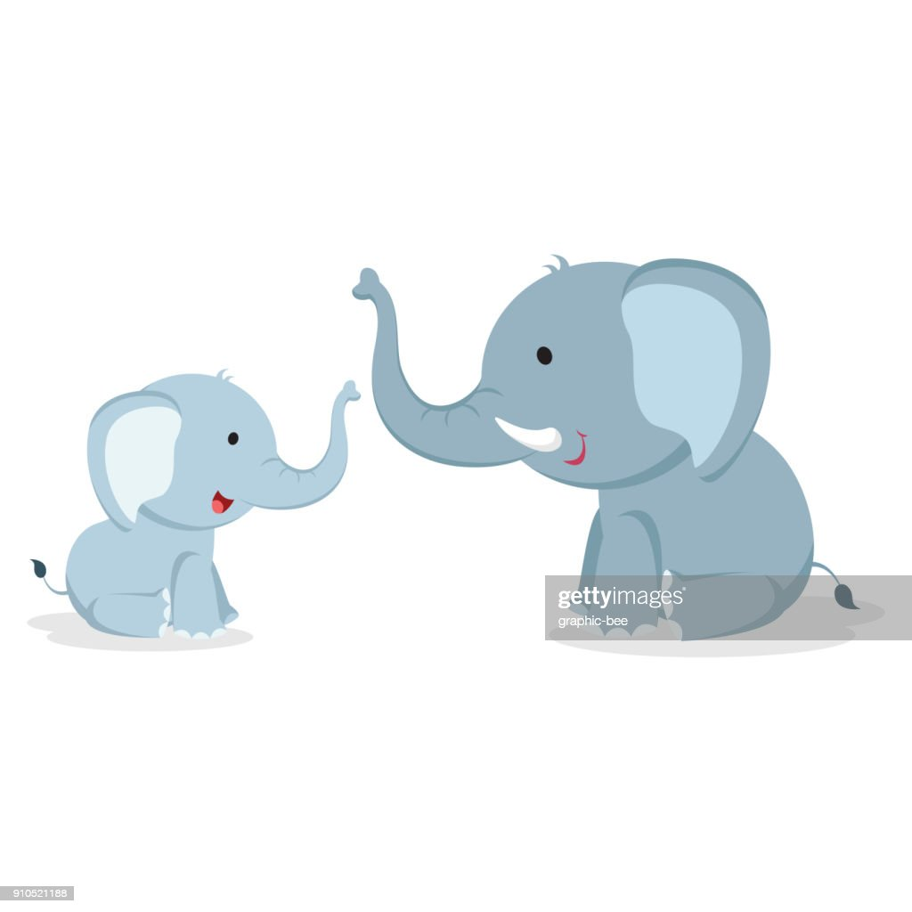 Elephants vector illustration
