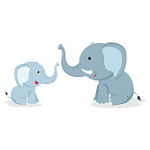 Elephants vector illustration