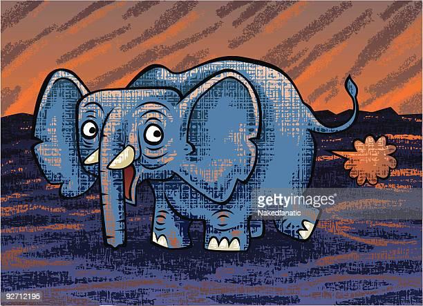 ilustraciones, imágenes clip art, dibujos animados e iconos de stock de elephart - pedo