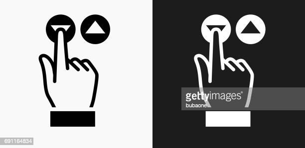 elevator buttons icon on black and white vector backgrounds - elevator stock illustrations, clip art, cartoons, & icons
