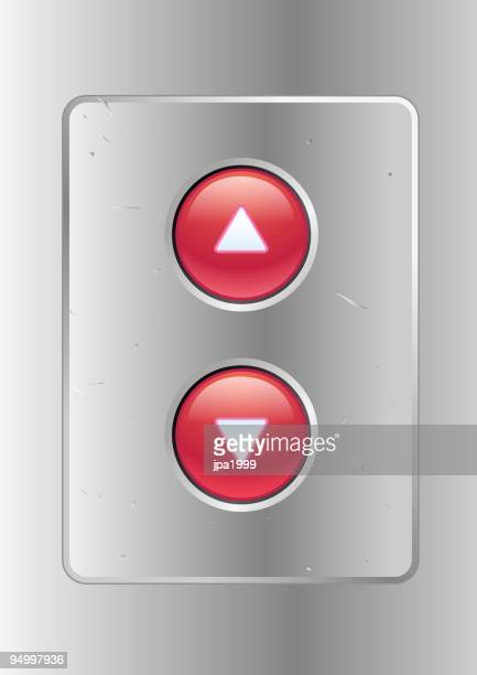 elevator buttons - elevator stock illustrations, clip art, cartoons, & icons