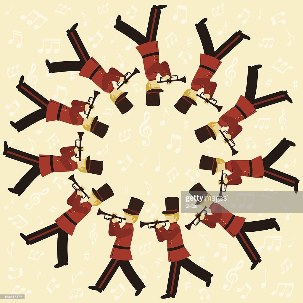 11 pipers piping images eleven pipers piping vector art getty images 2937